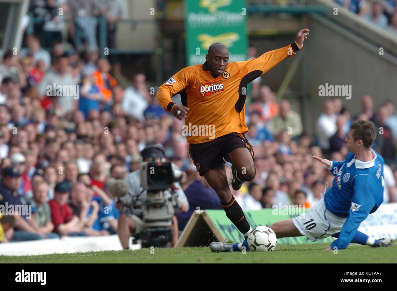 Footballer Shaun Newton Birmingham City v Wolverhampton Wanderers 25 April 2004 - Stock Image
