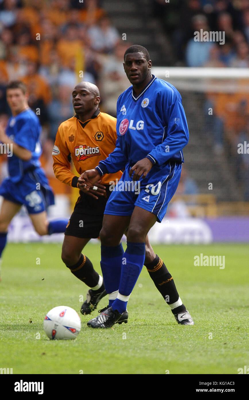 Footballer Trevor Benjamin Wolverhampton Wanderers v Leicester City 04 May 2003 - Stock Image