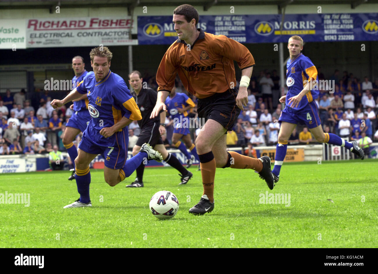 Footballer Mark Kennedy Shrewsbury Town v Wolverhampton Wanderers 28th July 2001 - Stock Image