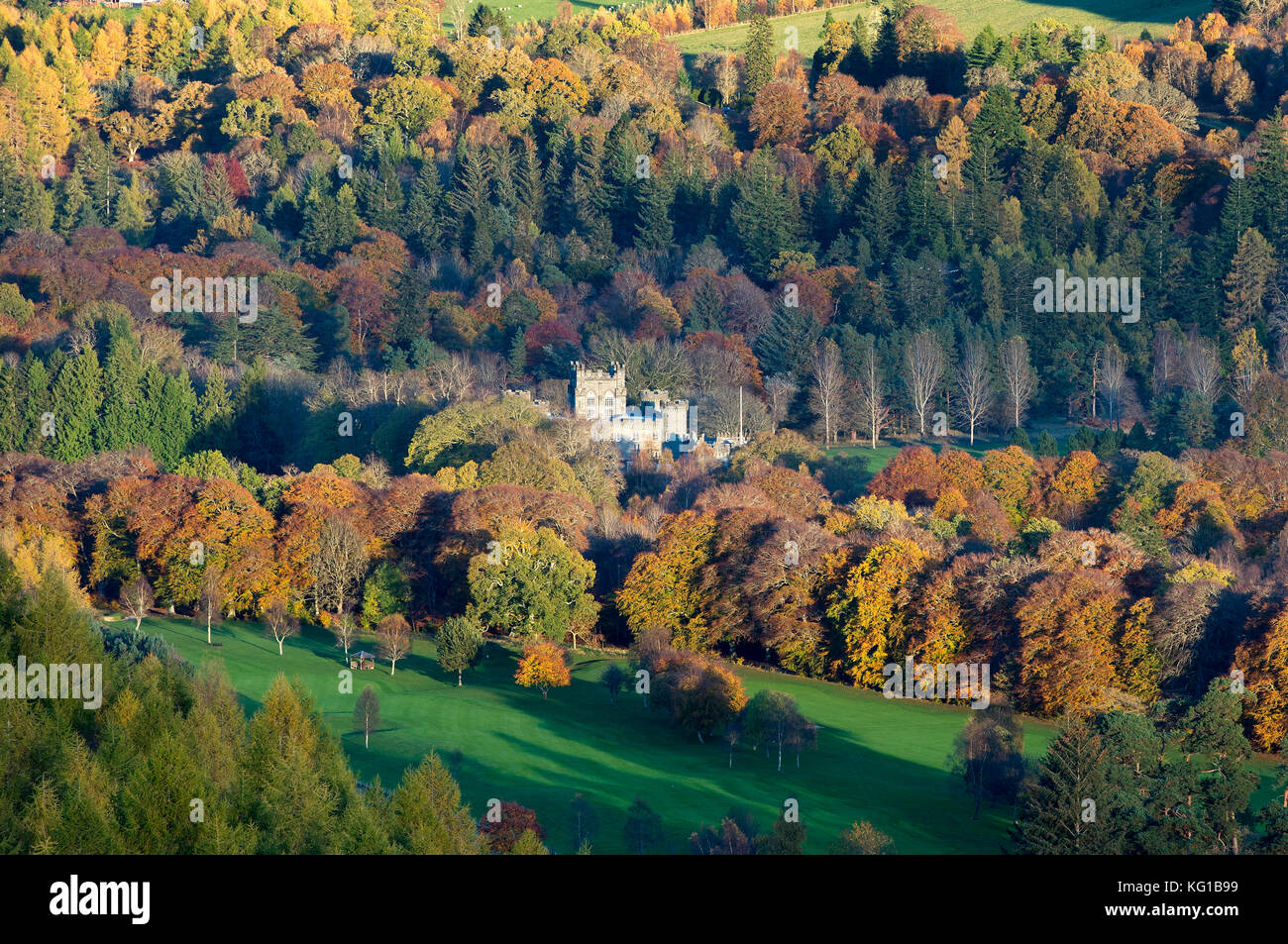 Taymouth Castle, Kenmore, Perthshire, Scotland. - Stock Image