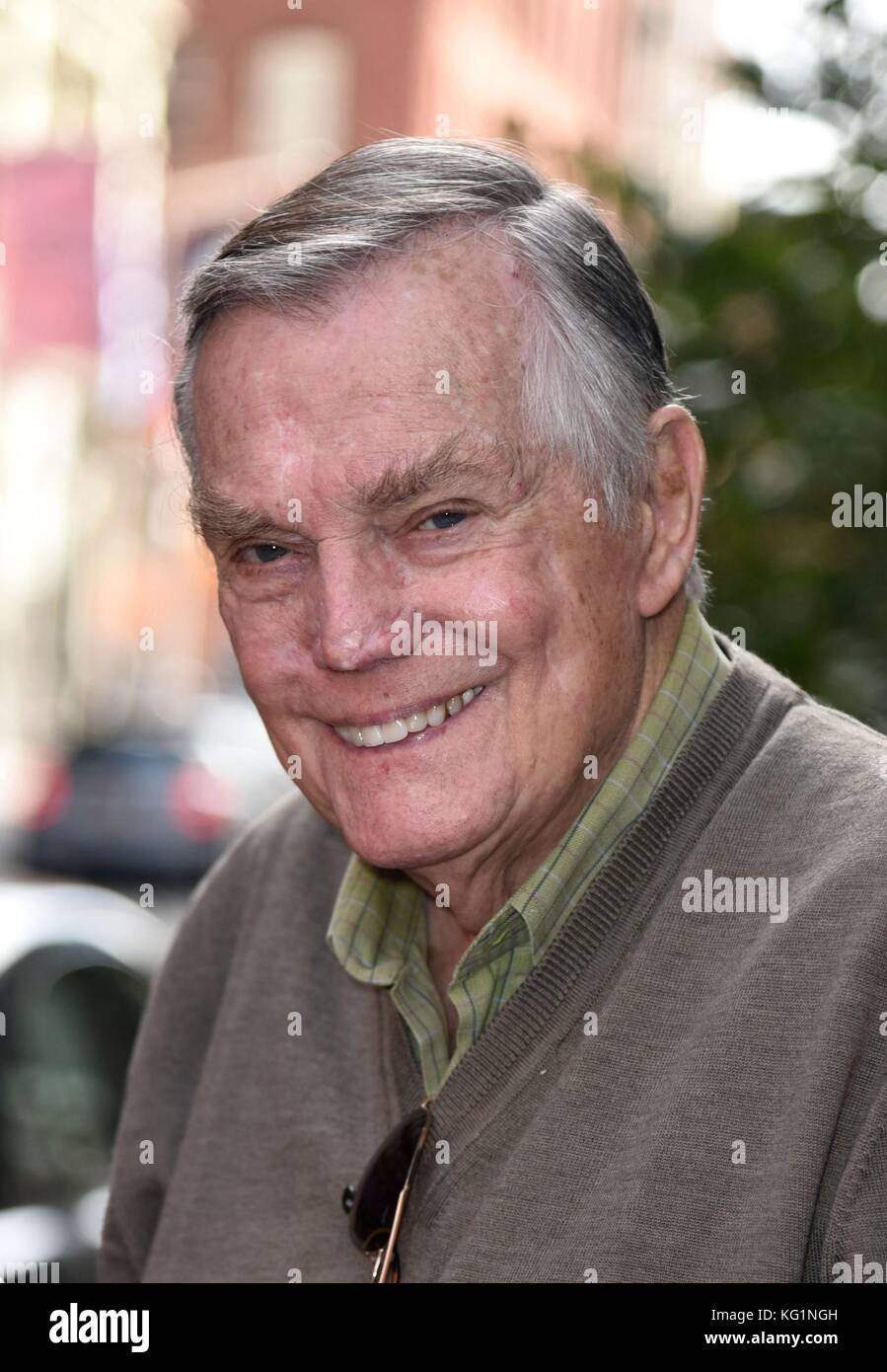 New York, NY, USA. 2nd Nov, 2017. Peter Marshall, seen at AOL BUILD to promote his new film WAIT FOR YOUR LAUGH - Stock Image