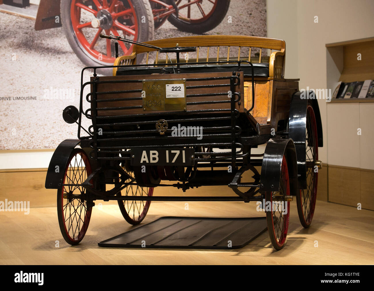 A view of an 1894 Santler 3 1/2 HP Dogcart, the world\'s oldest Stock ...