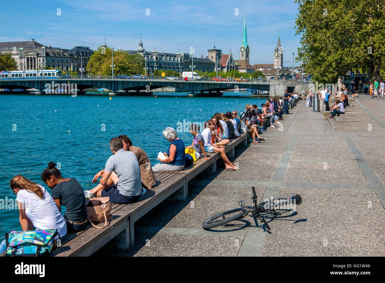 Zürich, Schweiz :  am Zürichsee Stock Photo
