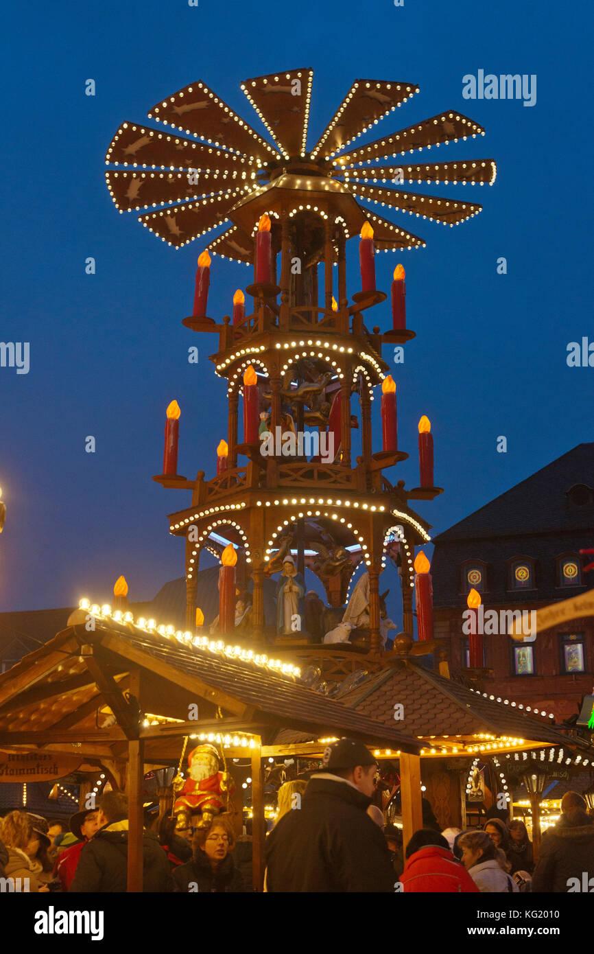 Weihnachtsmarkt Hanau.Germany Hesse Hanau Deutschland Hanau Hessen Weihnachtsmarkt