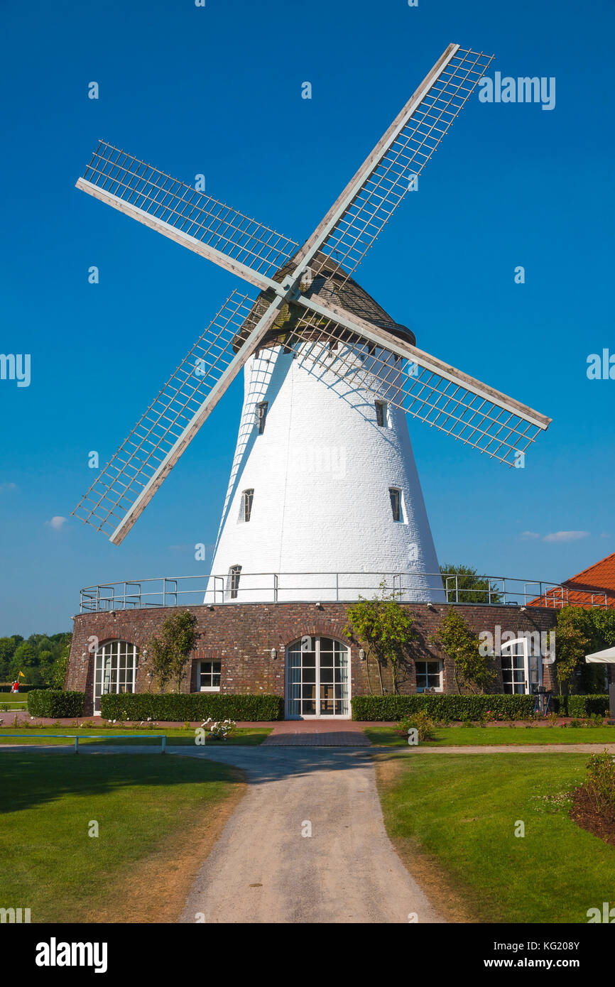 Krefeld Nordrhein Westfalen Germany Elfrather Muhle Stock Photo