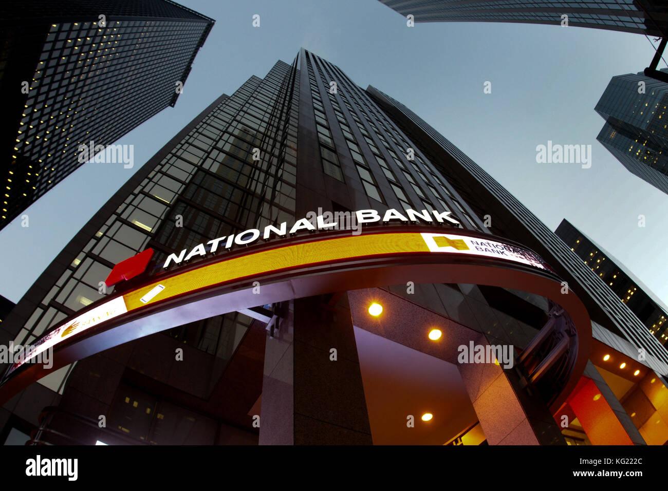 Toronto,Canada,16 November,2011.National bank headquarters in downtown Toronto,Ontario. Credit:Mario Beauregard/Alamy - Stock Image