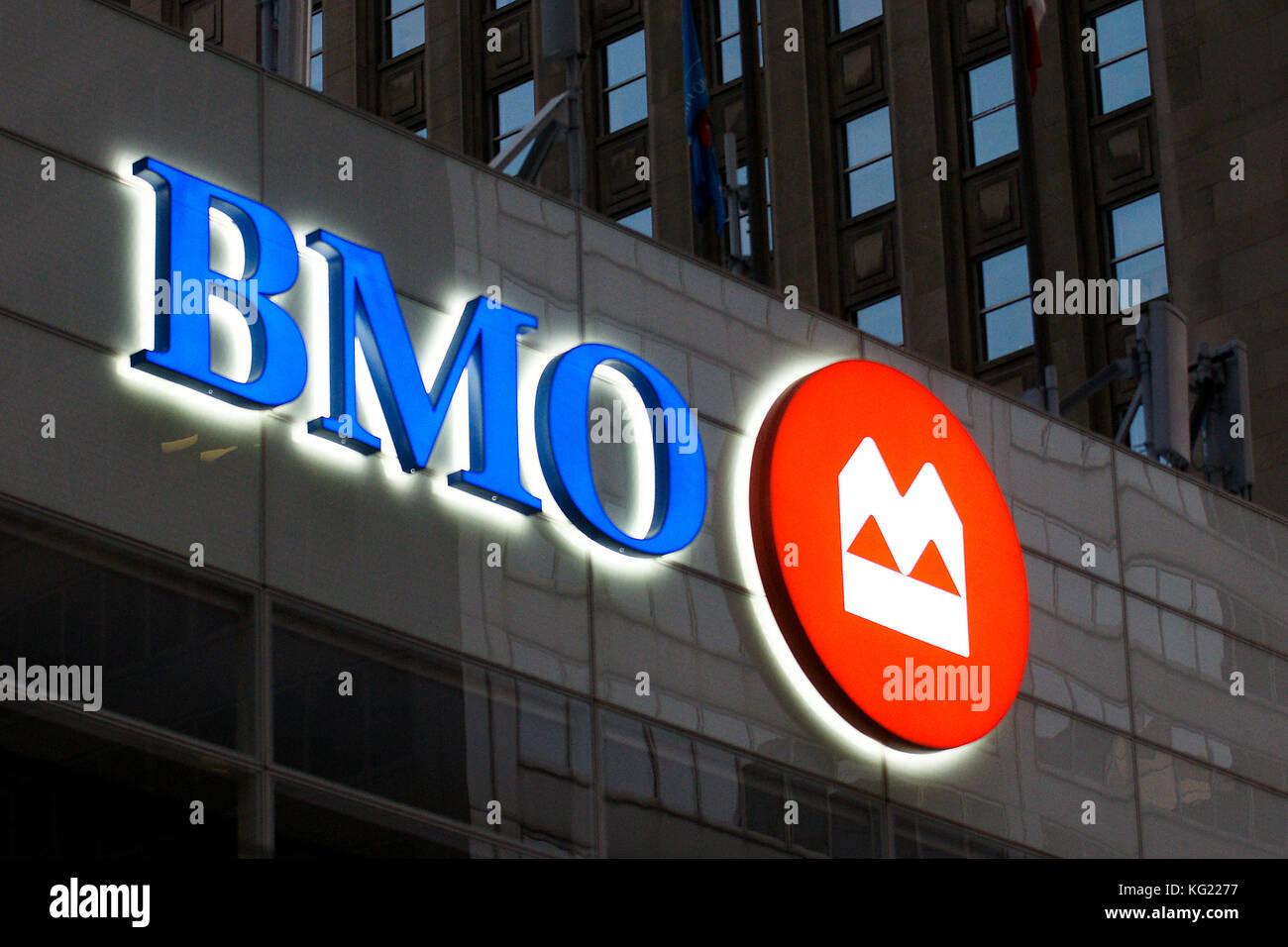 Toronto,Canada,17 November,2011.BMO bank emblem on their  headquarters in downtown Toronto,Ontario. Credit:Mario - Stock Image
