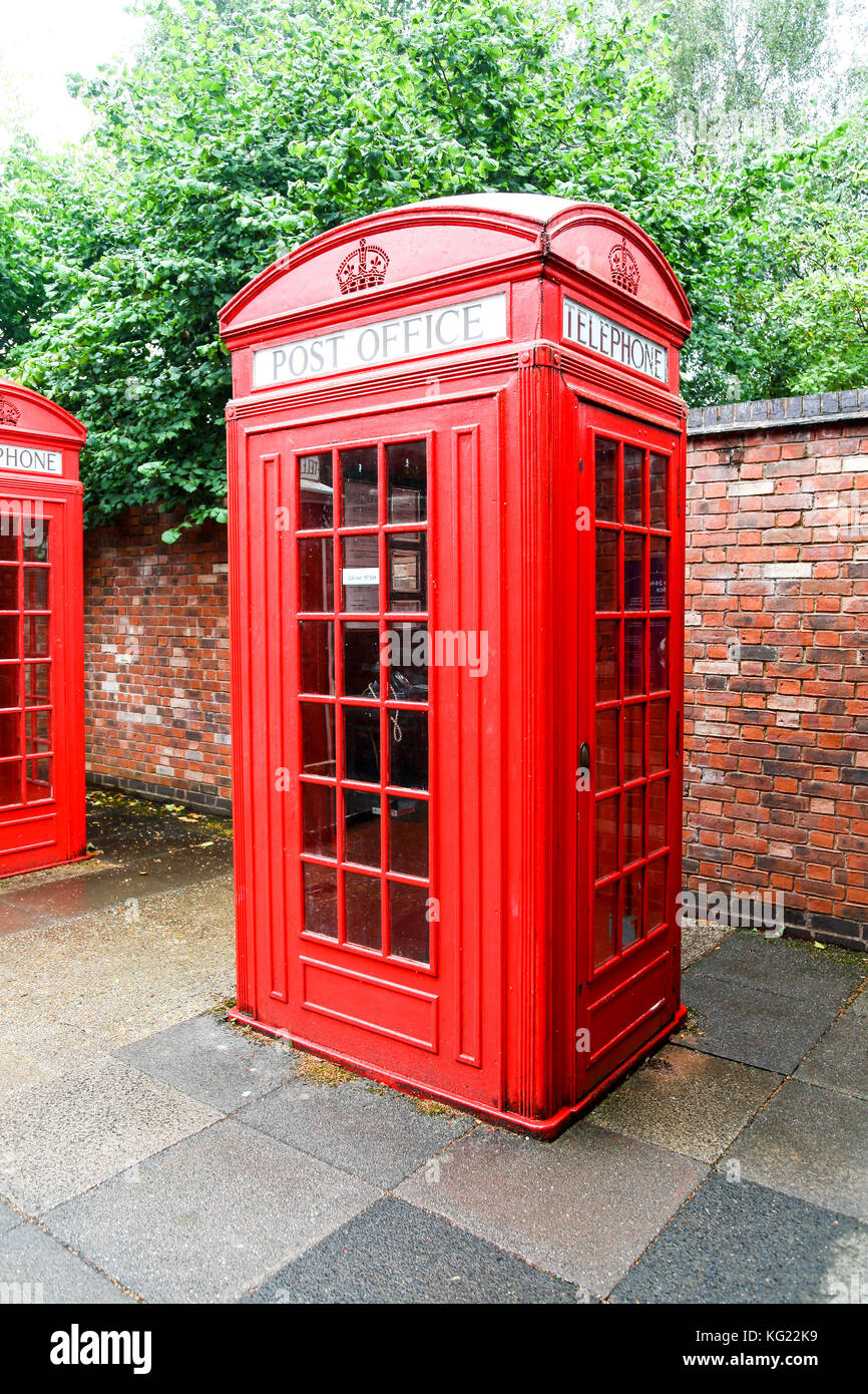 A K4 '24 hour Post office kiosk', National Telephone Kiosk Collection at the Avoncroft Museum of Buildings, - Stock Image