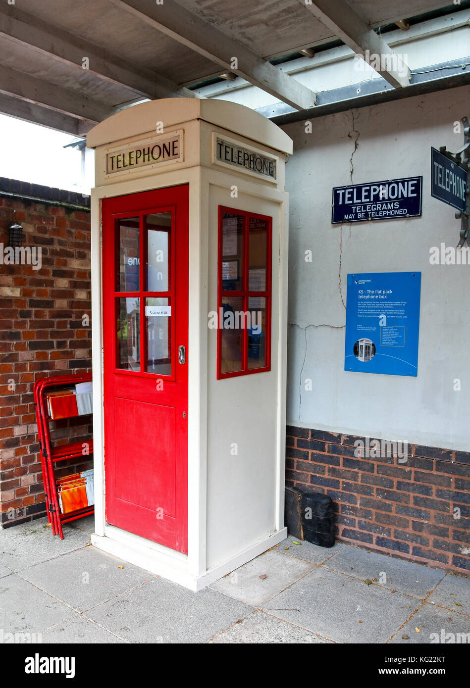 A K5 phone box at The National Telephone Kiosk Collection at the Avoncroft Museum of Buildings, Bromsgrove, Worcestershire, - Stock Image