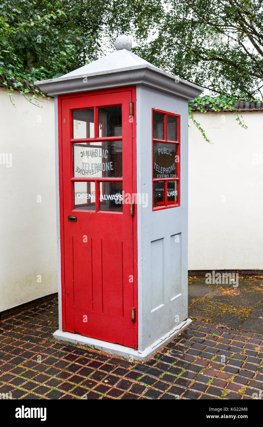 A K1 Mk 234 phone box at The National Telephone Kiosk Collection at the Avoncroft Museum of Buildings, Bromsgrove, - Stock Image