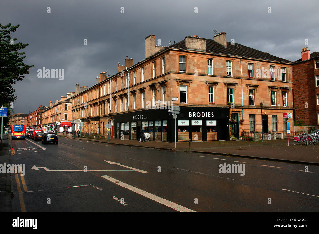 Strassenszene/ street scene, Glasgow, Schottland/ Scotland Stock ...