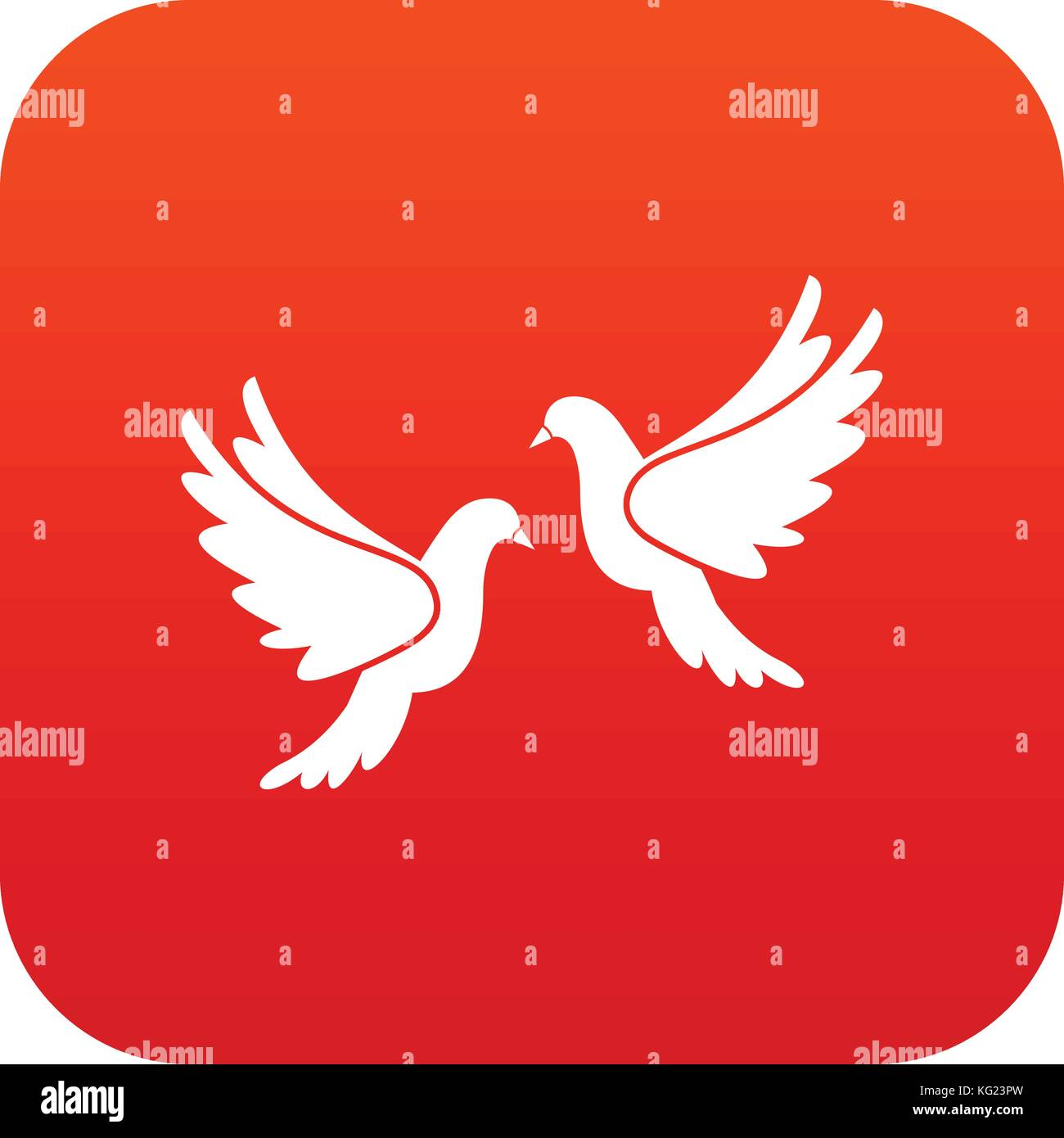 Dove Doves Pair Stock Vector Images - Alamy