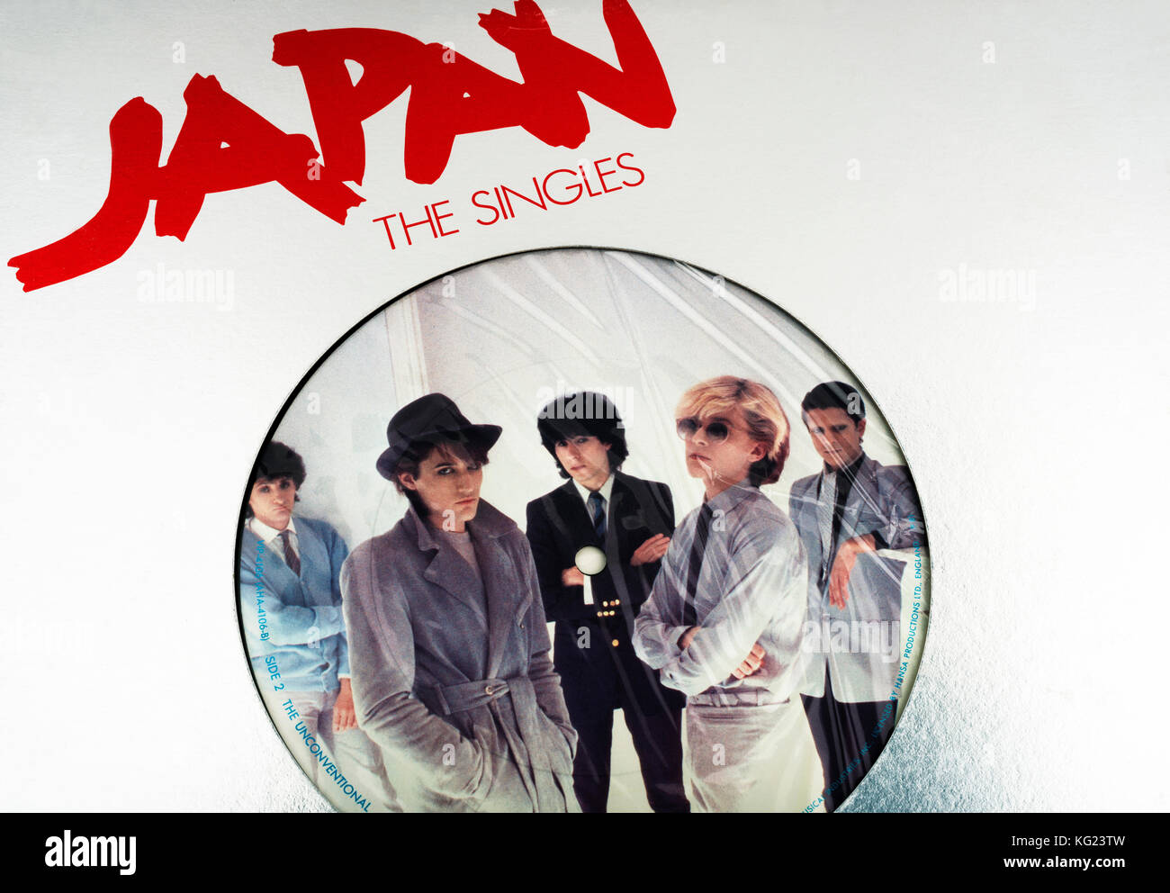 Japan The Singles EP record - Stock Image