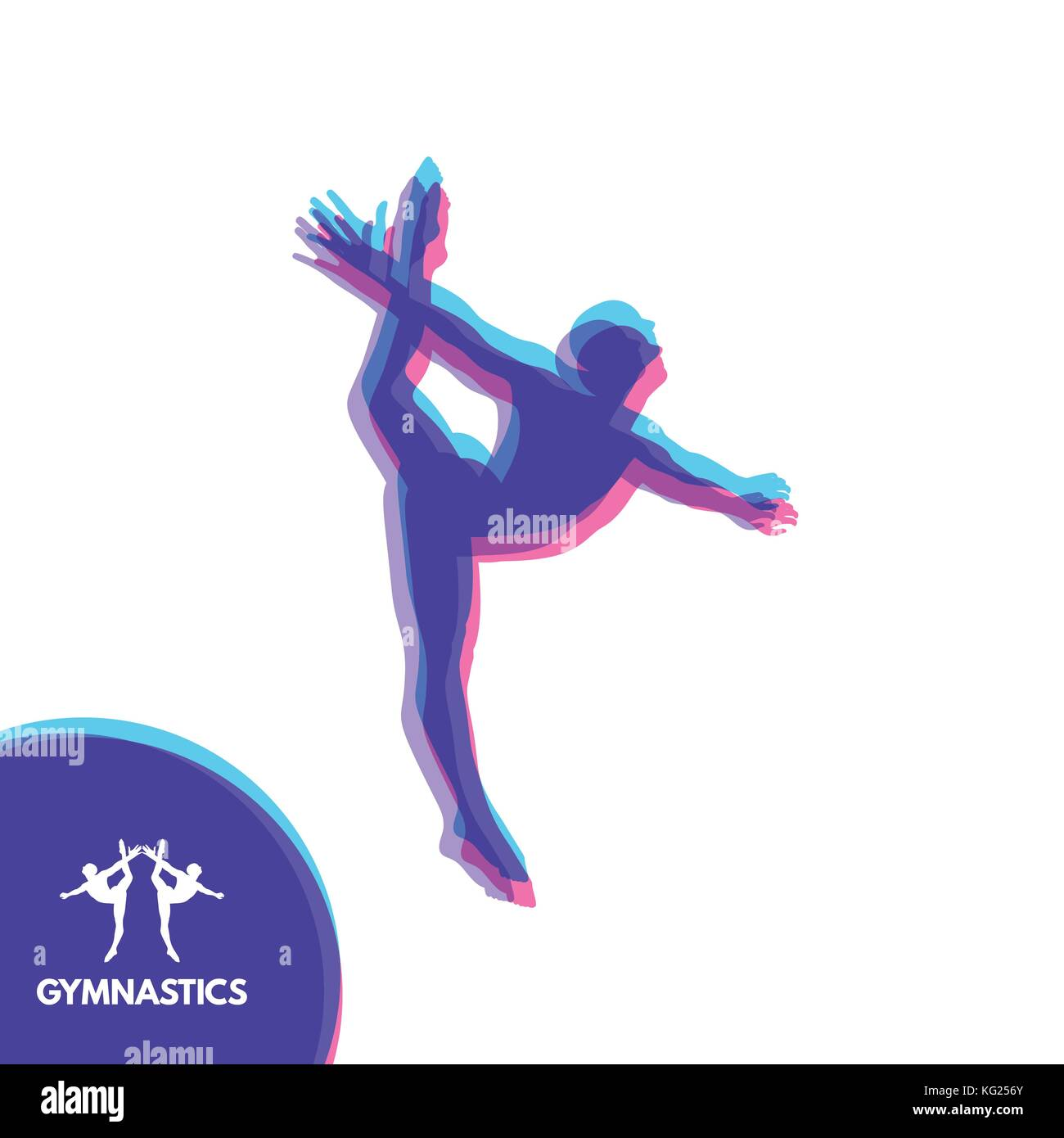 gymnast silhouette of a dancer gymnastics activities for icon