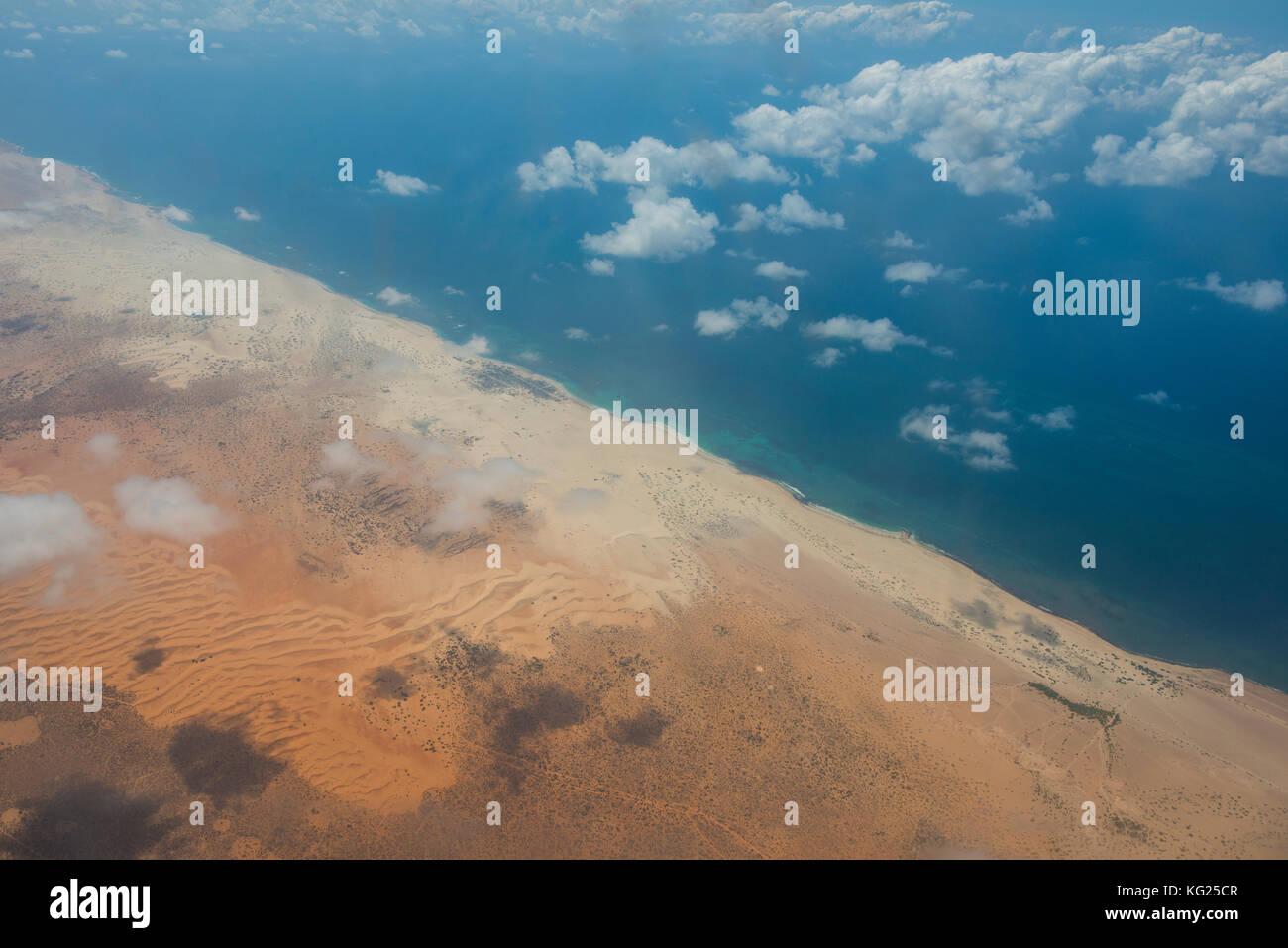 Coastline of Somalia, Africa - Stock Image