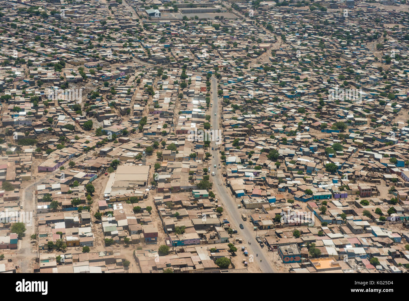 Aerial of Djibouti on the Horn of Africa, Africa Stock Photo