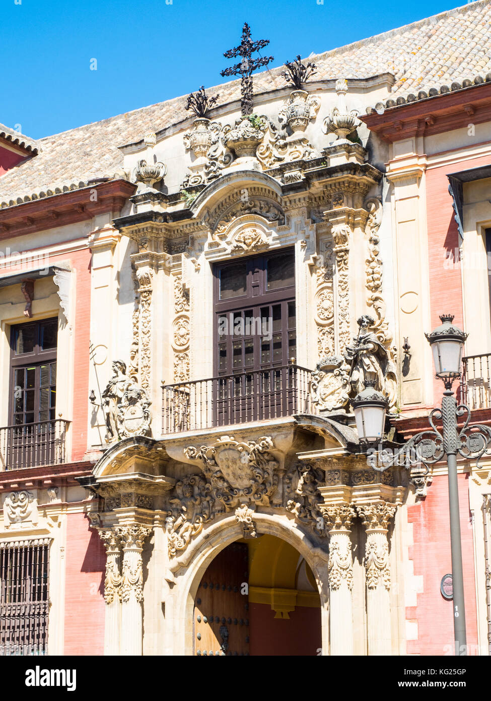 Archbishop's Palace, Seville (Sevilla), Andalucia, Spain, Europe - Stock Image
