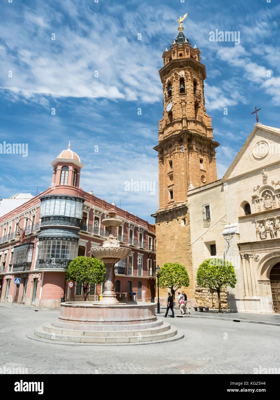 The 16th century church of San Sebastian, Antequera, Andalucia, Spain, Europe Stock Photo