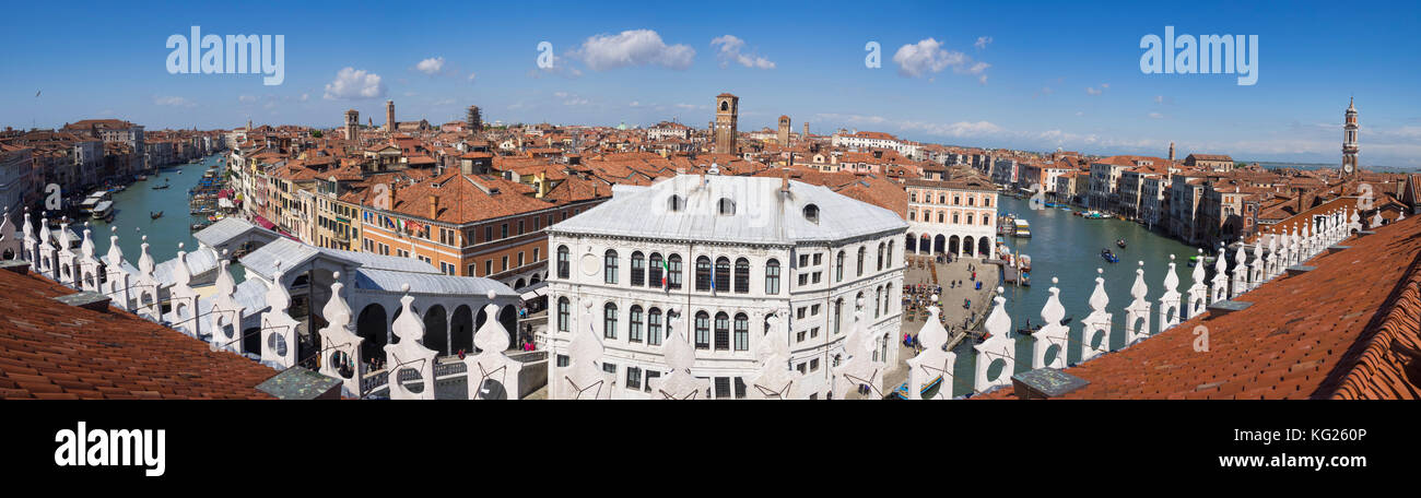 Panoramic View Of The Grand Canal From The Terrace Of The