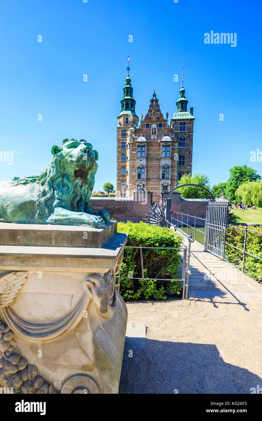 Rosenborg Castle built in the Dutch Renaissance style, Copenhagen, Denmark, Europe - Stock Image