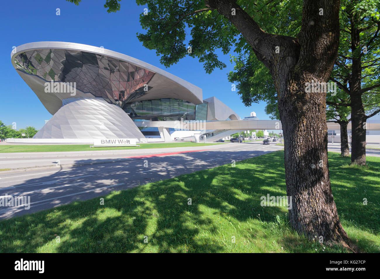 BMW Welt, Olympiazentrum, Mittleren Ring, Munich, Bavaria, Germany, Europe - Stock Image