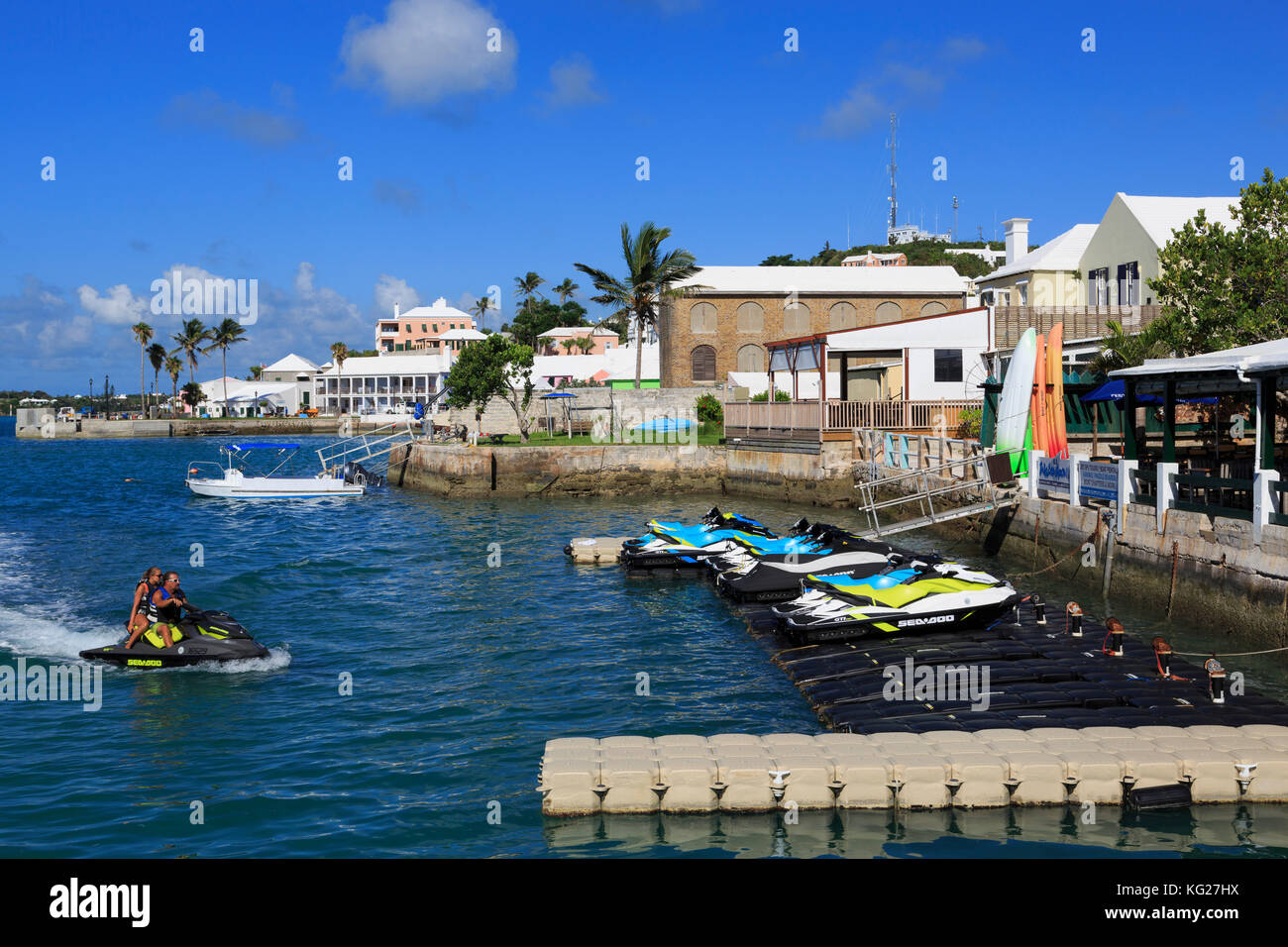 Waterfront, Town of St. George, St. George's Parish, Bermuda, Central America - Stock Image