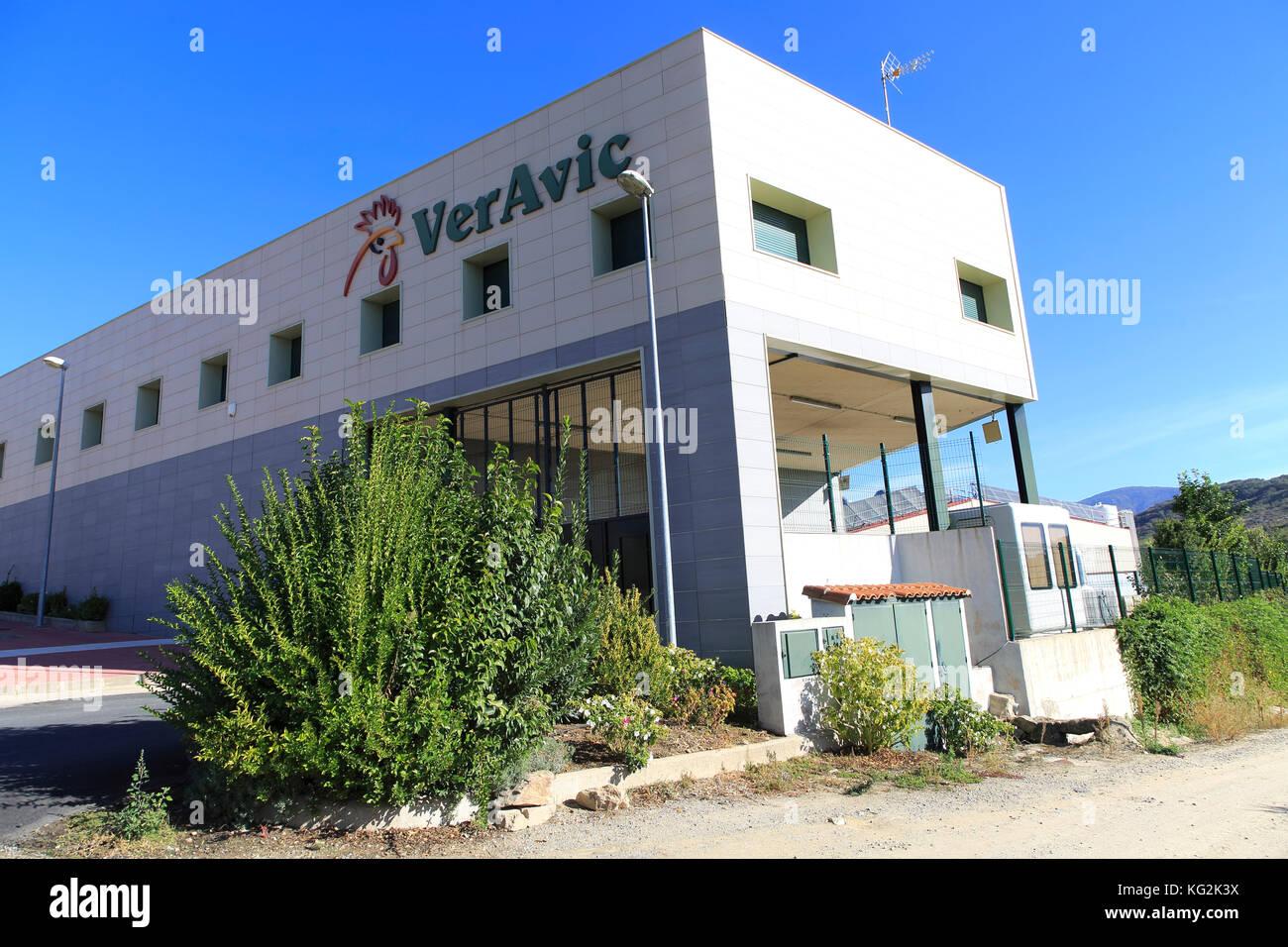 VerAvic poultry processing factory, Cuacos de Yuste, La Vera, Extremadura, Spain - Stock Image