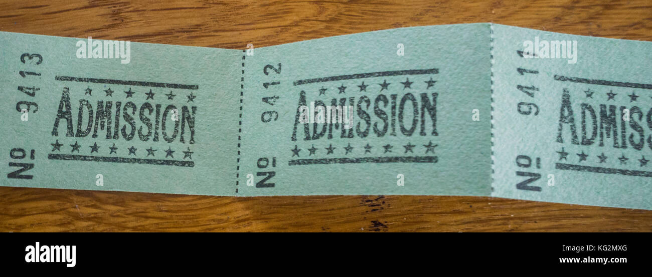 Admission tickets - Stock Image