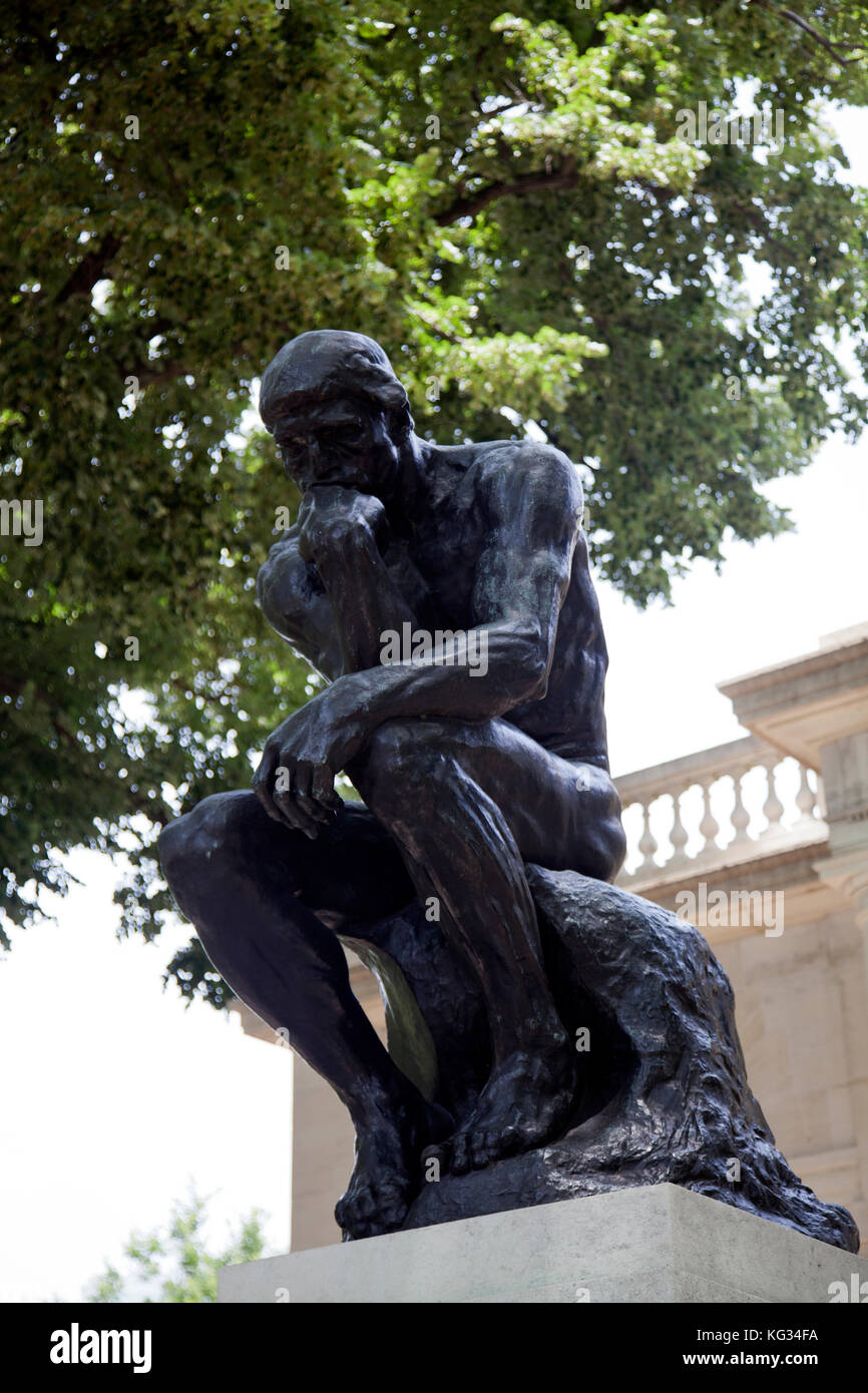 Rodin S The Thinker At Rodin Museum In Philadelphia Us Stock