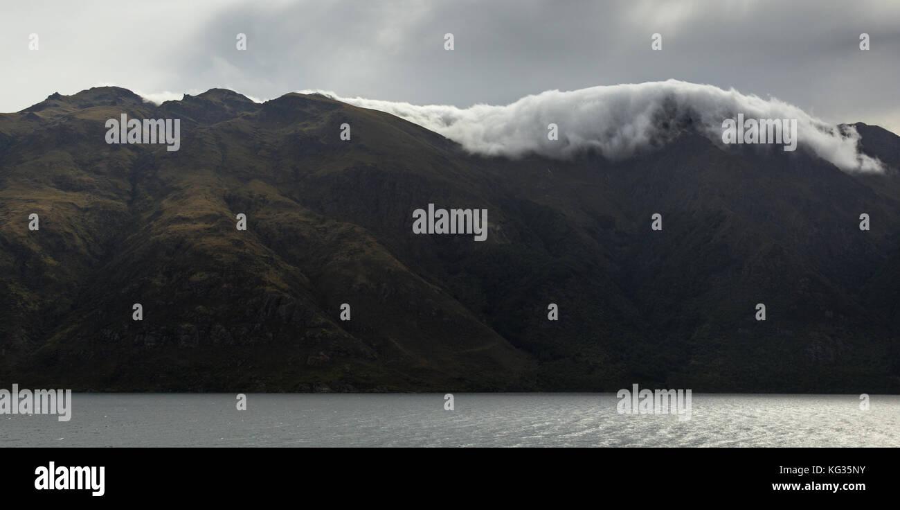 Lakeside landscape near Wanaka, New Zealand - Stock Image