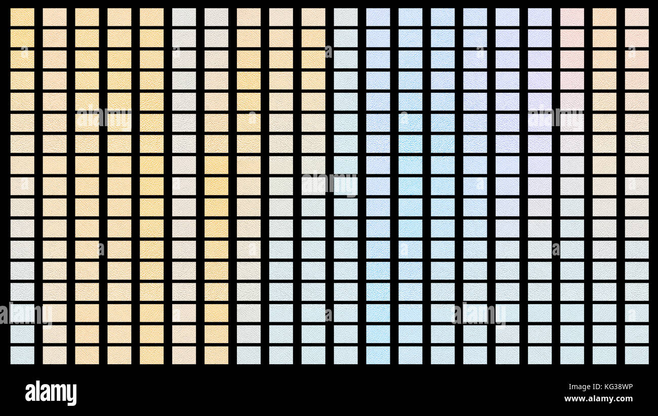 Color palette. Palette of colors. Black background color shade chart. - Stock Image