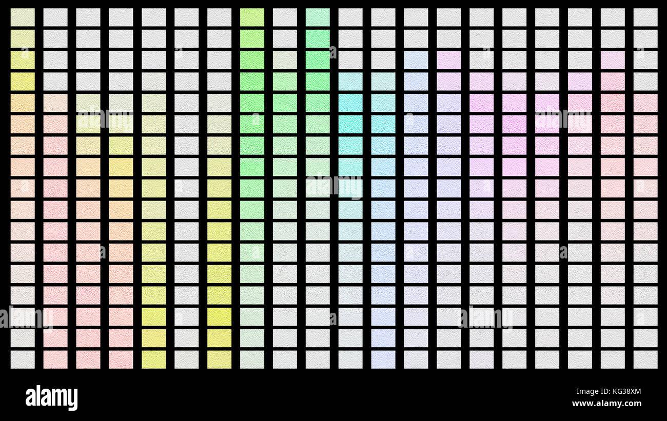 Color palette. Palette of colors. Black background color shade chart. - Stock Image