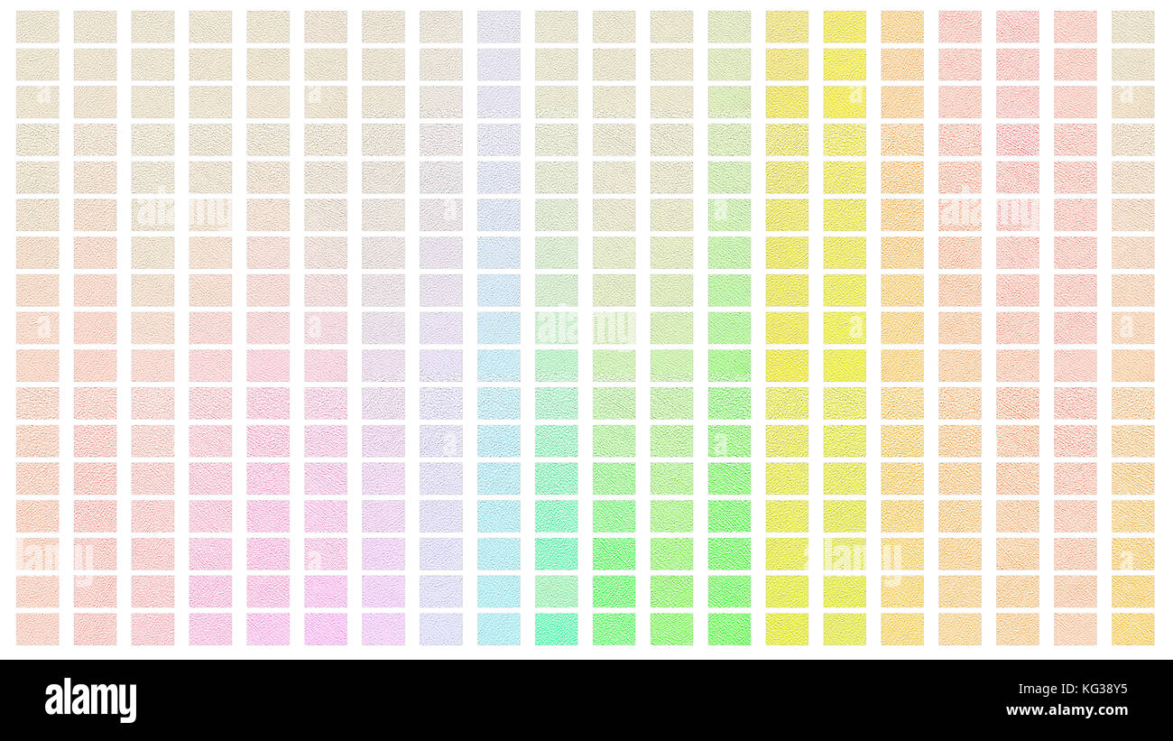 Color palette. Palette of colors. White background color shade chart. - Stock Image
