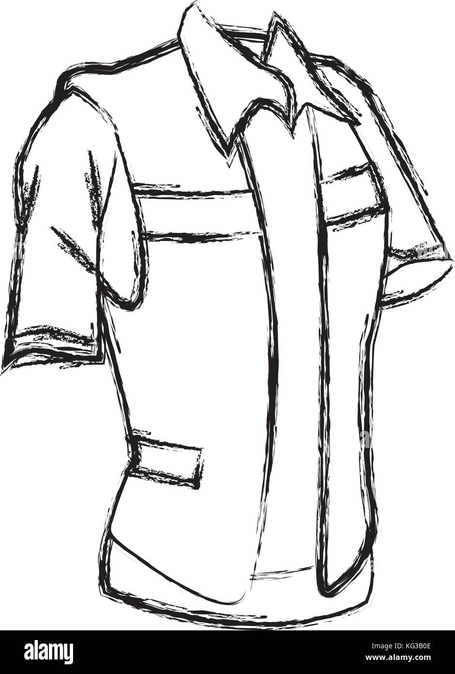 Construction worker vest - Stock Image