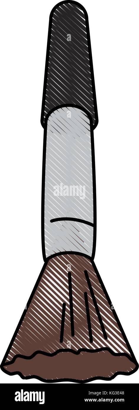 Face make up brush - Stock Vector
