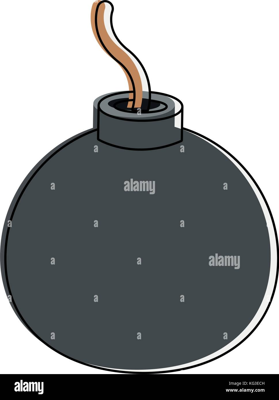Round bomb explosive - Stock Image