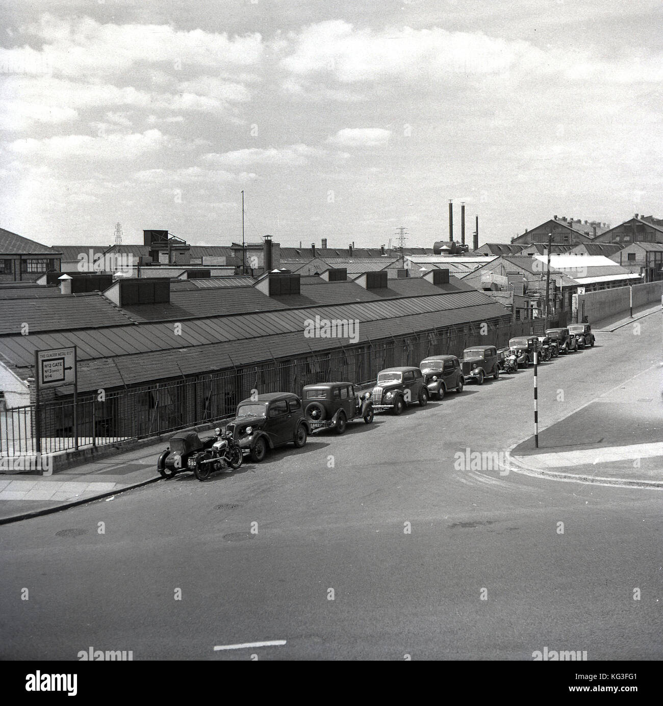 1950s, historical picture showing the industrial complex of The Glacier Meta Company Ltd at Alperton, Wembley, England - Stock Image