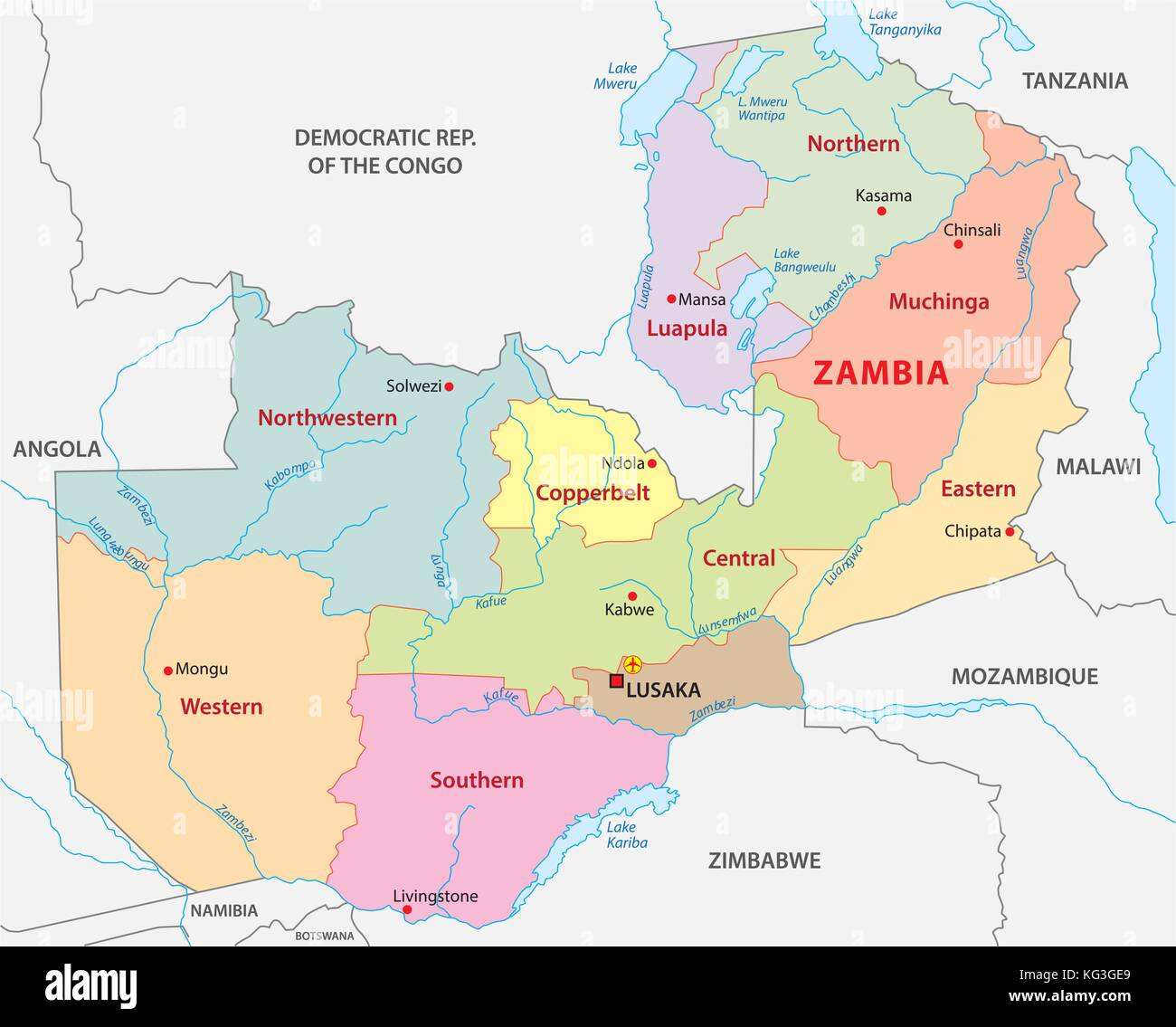 Map Africa Zambia Stock Photos & Map Africa Zambia Stock Images - Alamy
