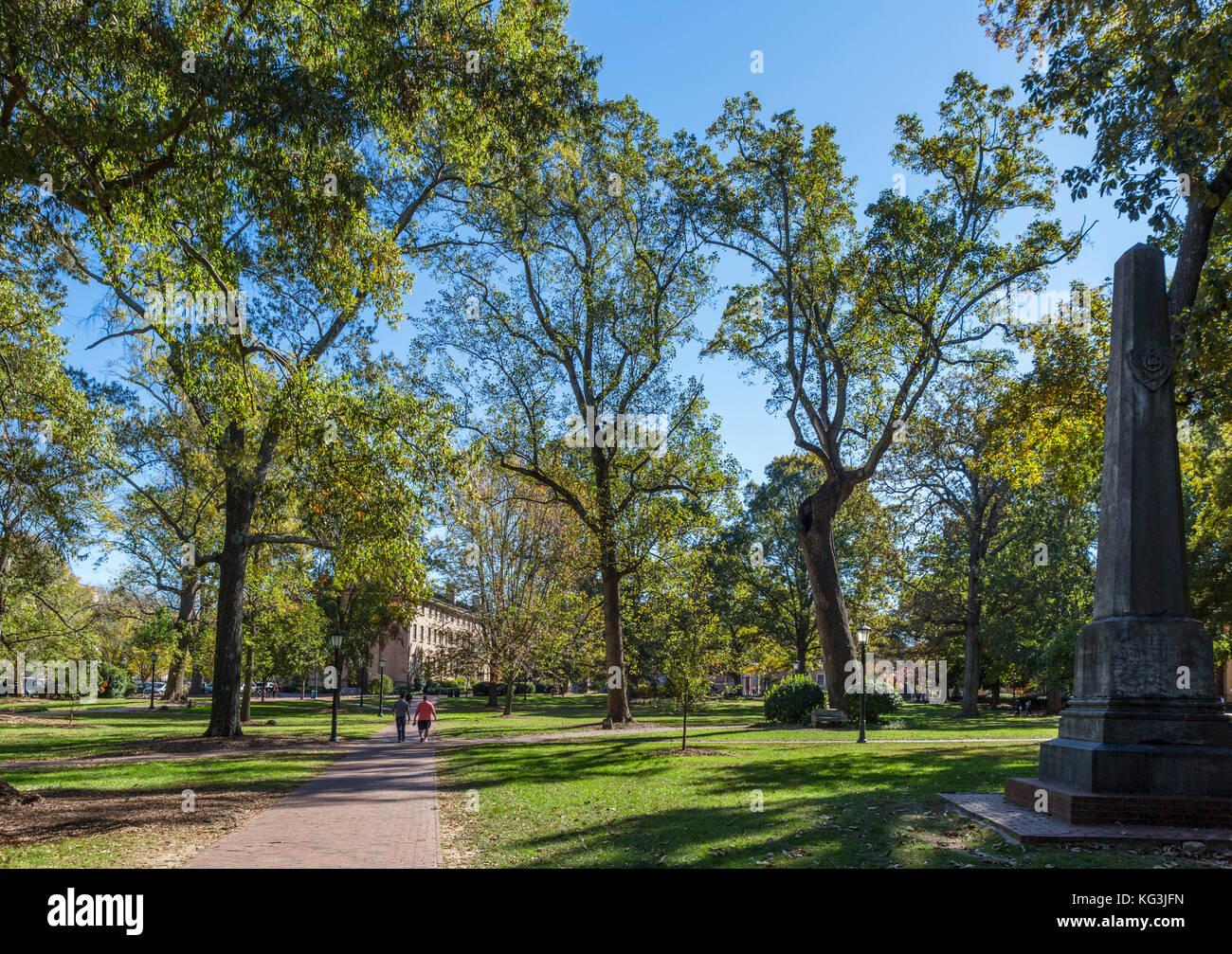 McCorkle Place, University of North Carolina at Chapel Hill, North Carolina, USA Stock Photo