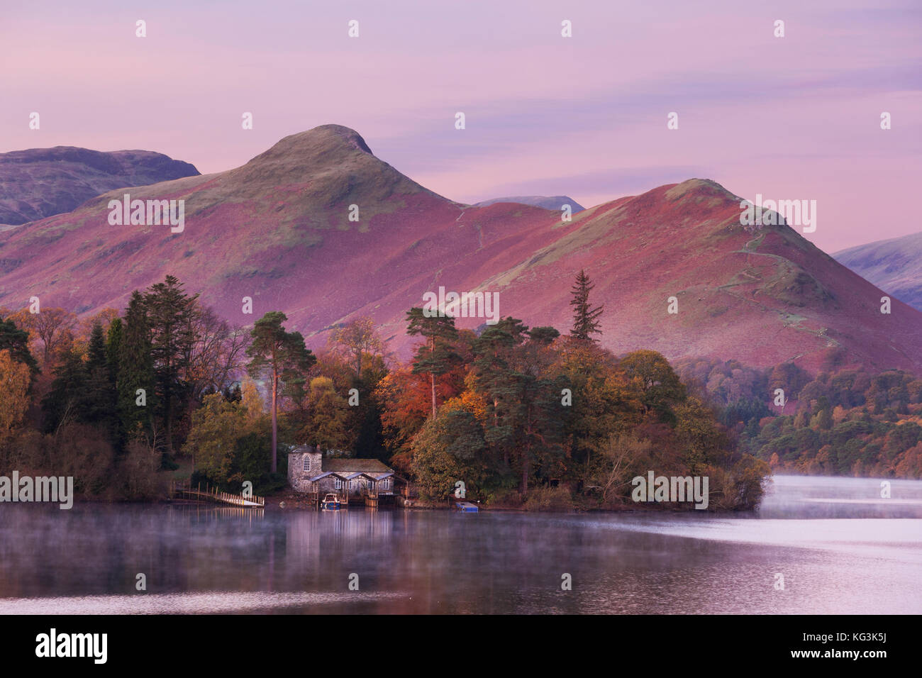 View of Catbells and Derwent Water, near Keswick, Lake District, UK - Stock Image