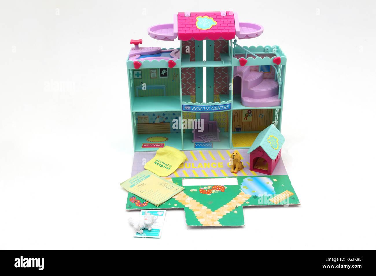 Vintage 1990's Toy BBC RSPCA Animal Hospital Rescue Centre - Stock Image