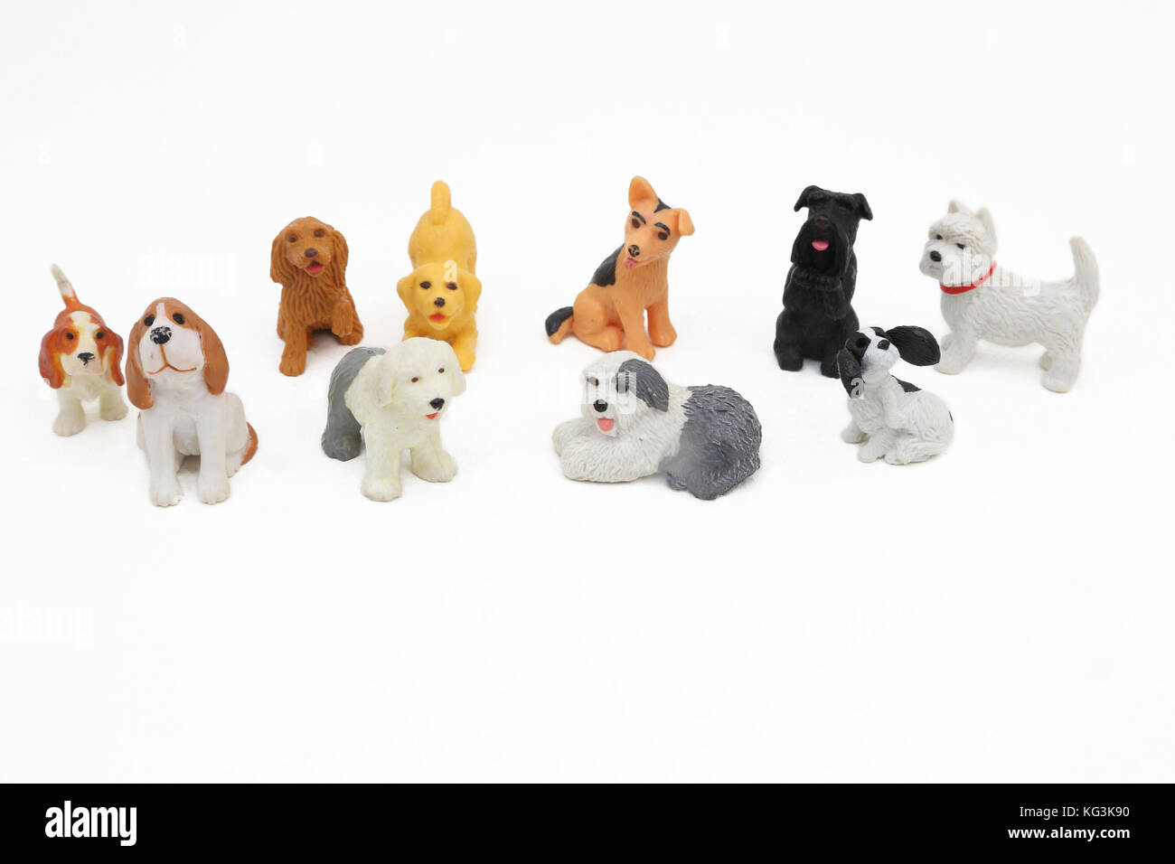 Vintage 1990s Toys Puppy In My Pocket Dogs Stock Photo 164808812