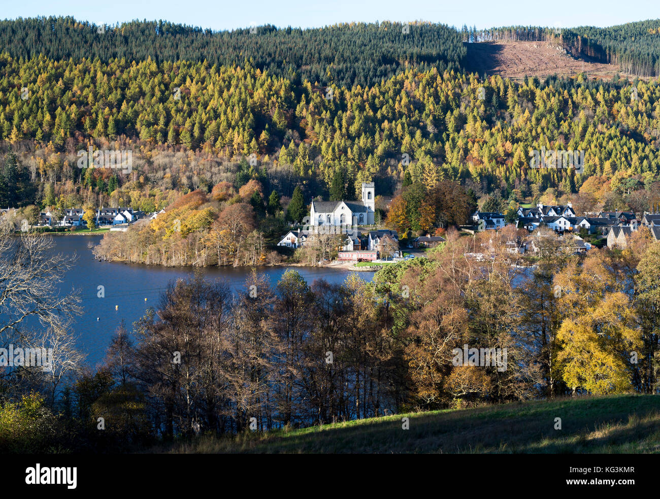 Kenmore Church in Kenmore village at the moth of Loch Tay, Perthshire, Scotland. - Stock Image