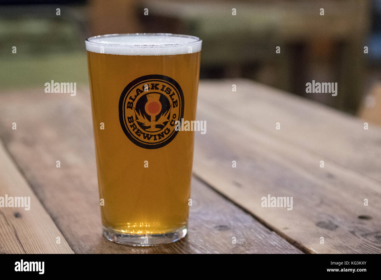 Black Isle Brewing Co - pint served at Black Isle Bar and Rooms, Inverness, Scotland, UK - Stock Image