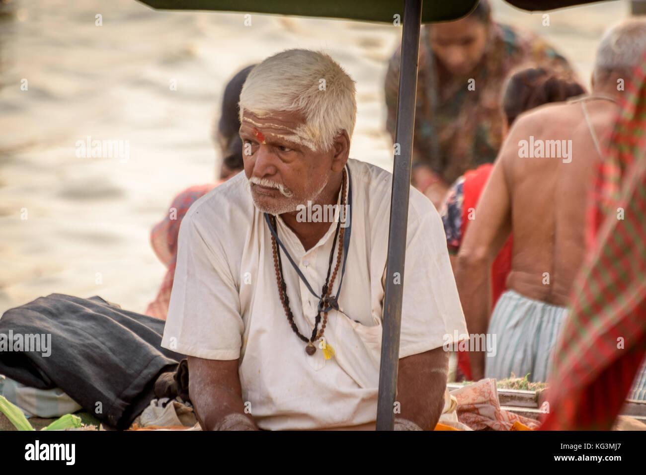 Portrait of a sadhu Baba - Stock Image