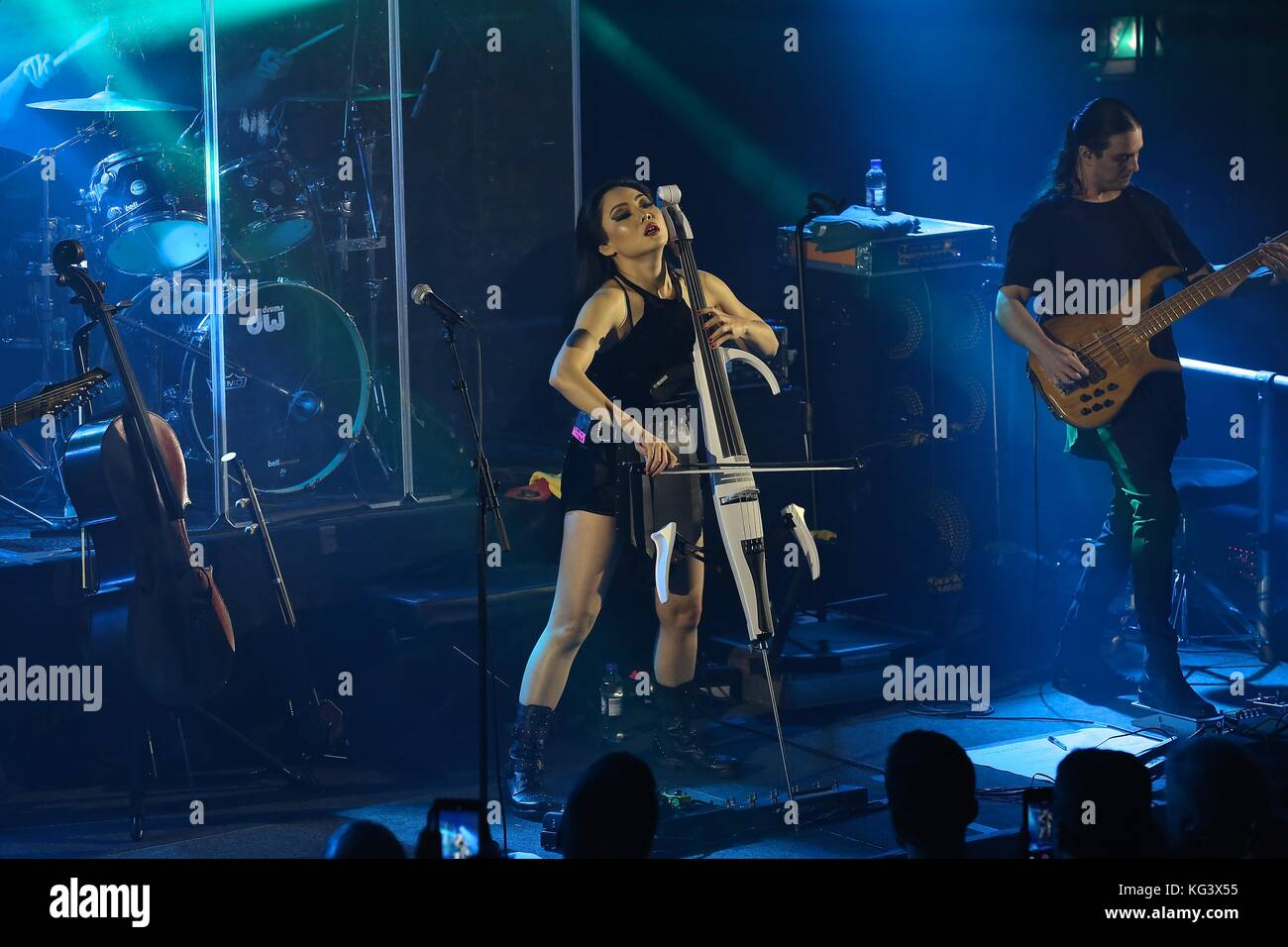 Tina Guo in Concert at London Concert at Round Chapel 2017 - Stock Image