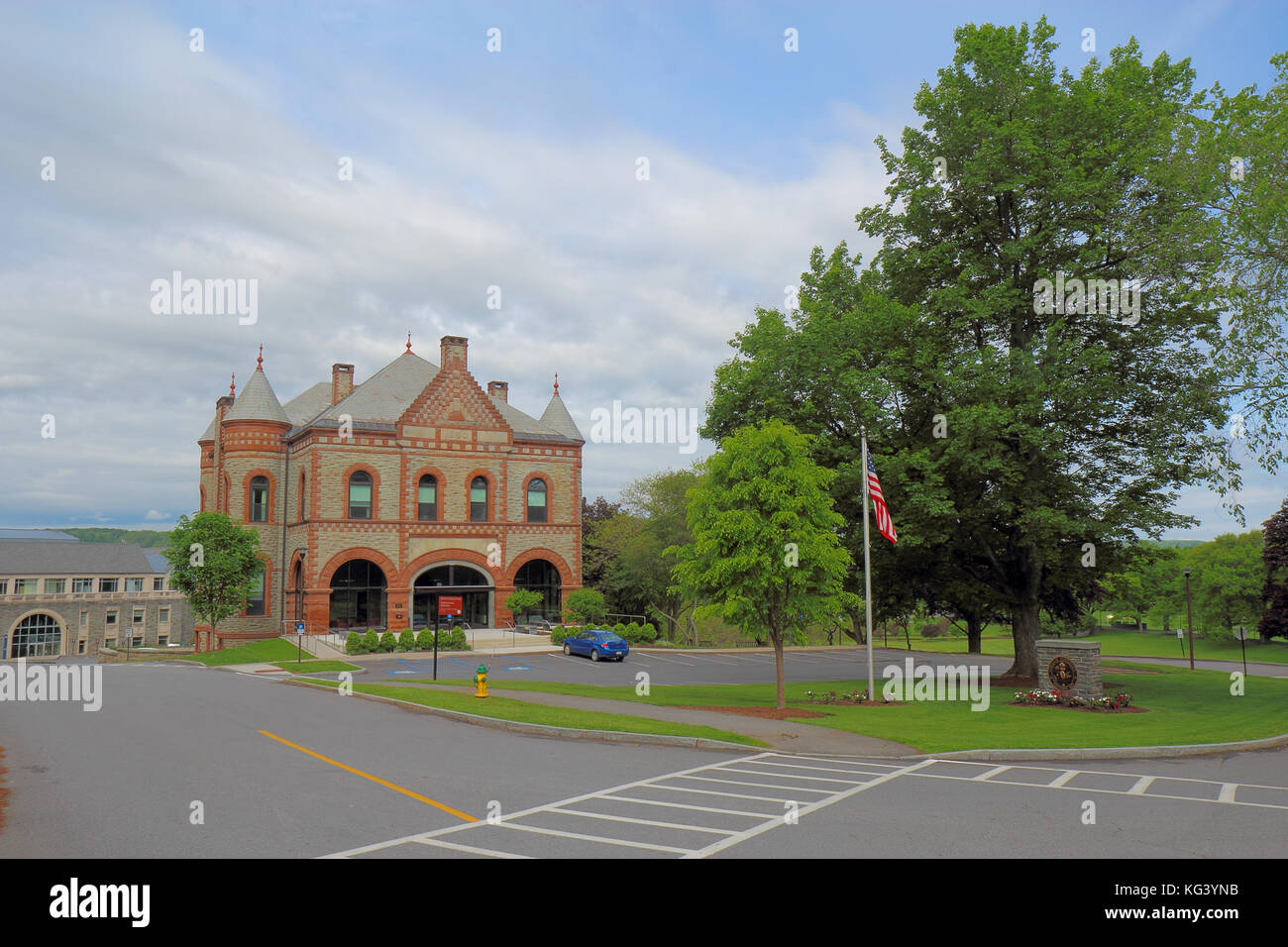 HAMILTON, NEW YORK - MAY 28 2017: The James B Colgate admissions and administration building on the campus of Colgate - Stock Image