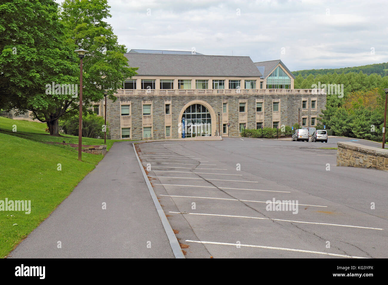HAMILTON, NEW YORK - MAY 28 2017: The Case-Geyer library building on the campus of Colgate University in the village Stock Photo