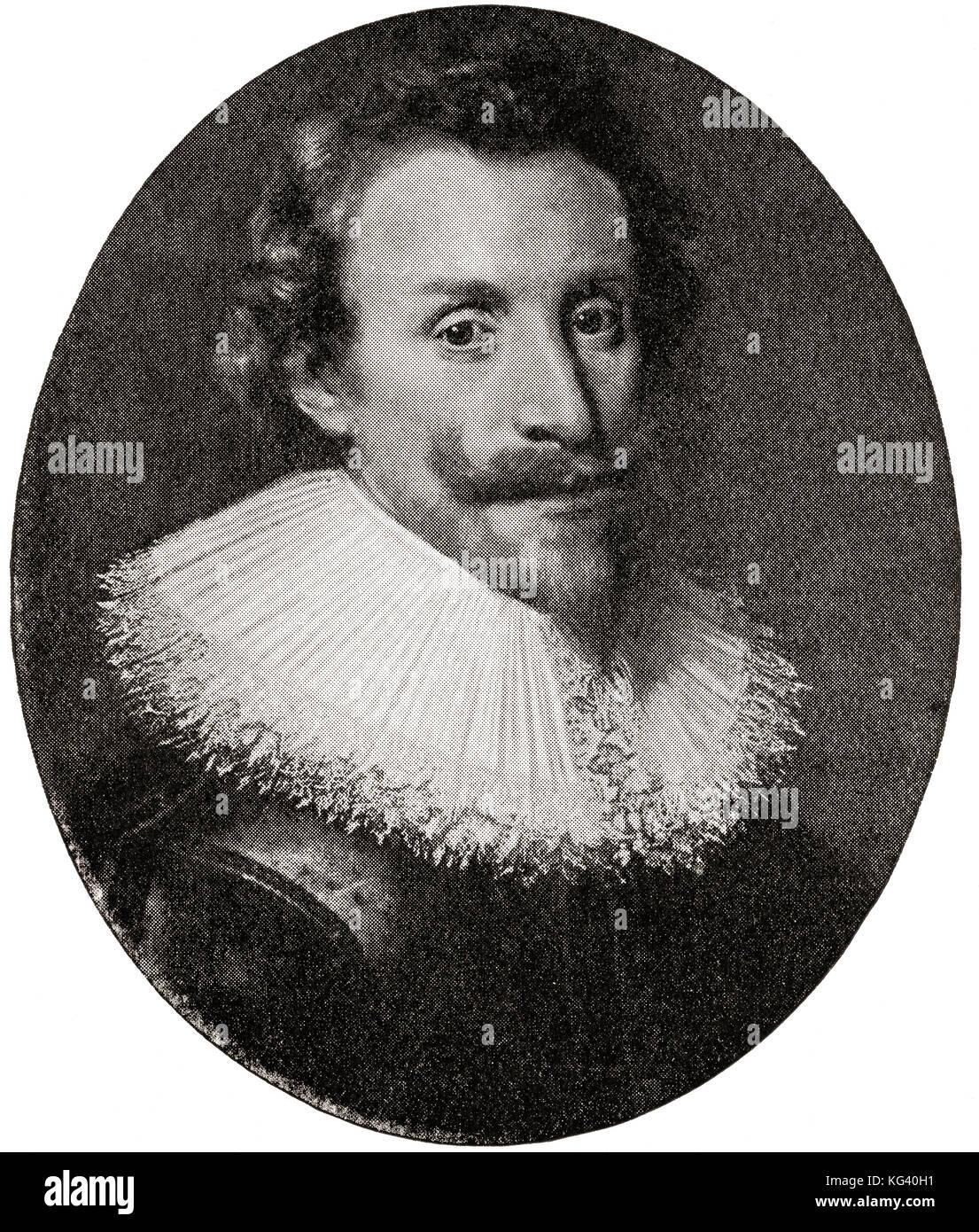 Hugo Grotius, 1583 –1645, aka Huig de Groot or Hugo de Groot.  Dutch jurist.  From Hutchinson's History of the - Stock Image