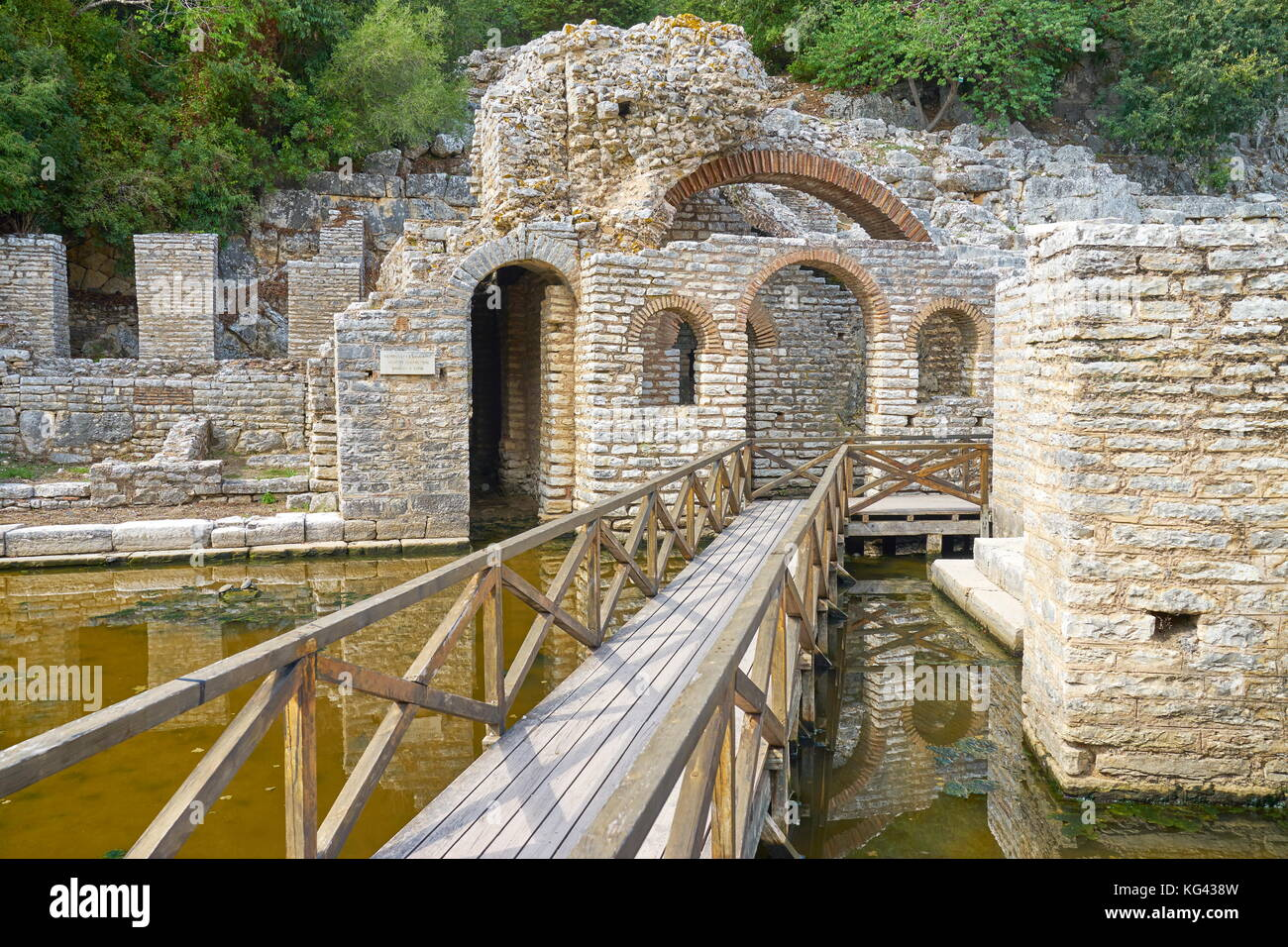 Archeological ruins at Butrint National Park, Albania, UNESCO - Stock Image